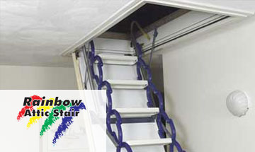 Rainbow Attic Stairs Photo