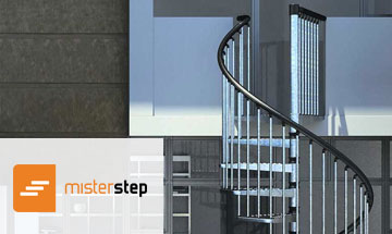 Mister Step Exterior Zink Spiral Stair Photo