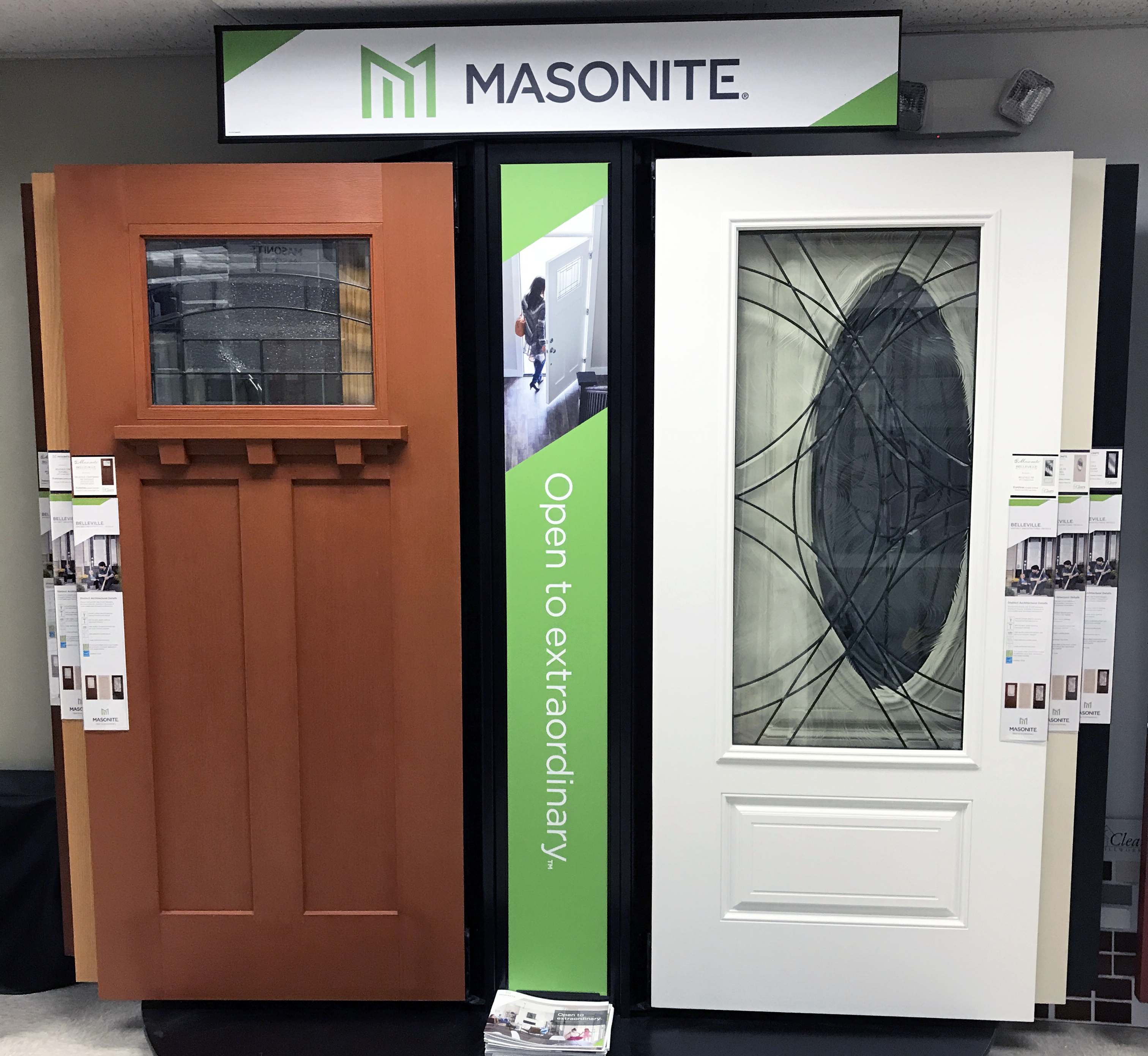 Photo of Masonite displays