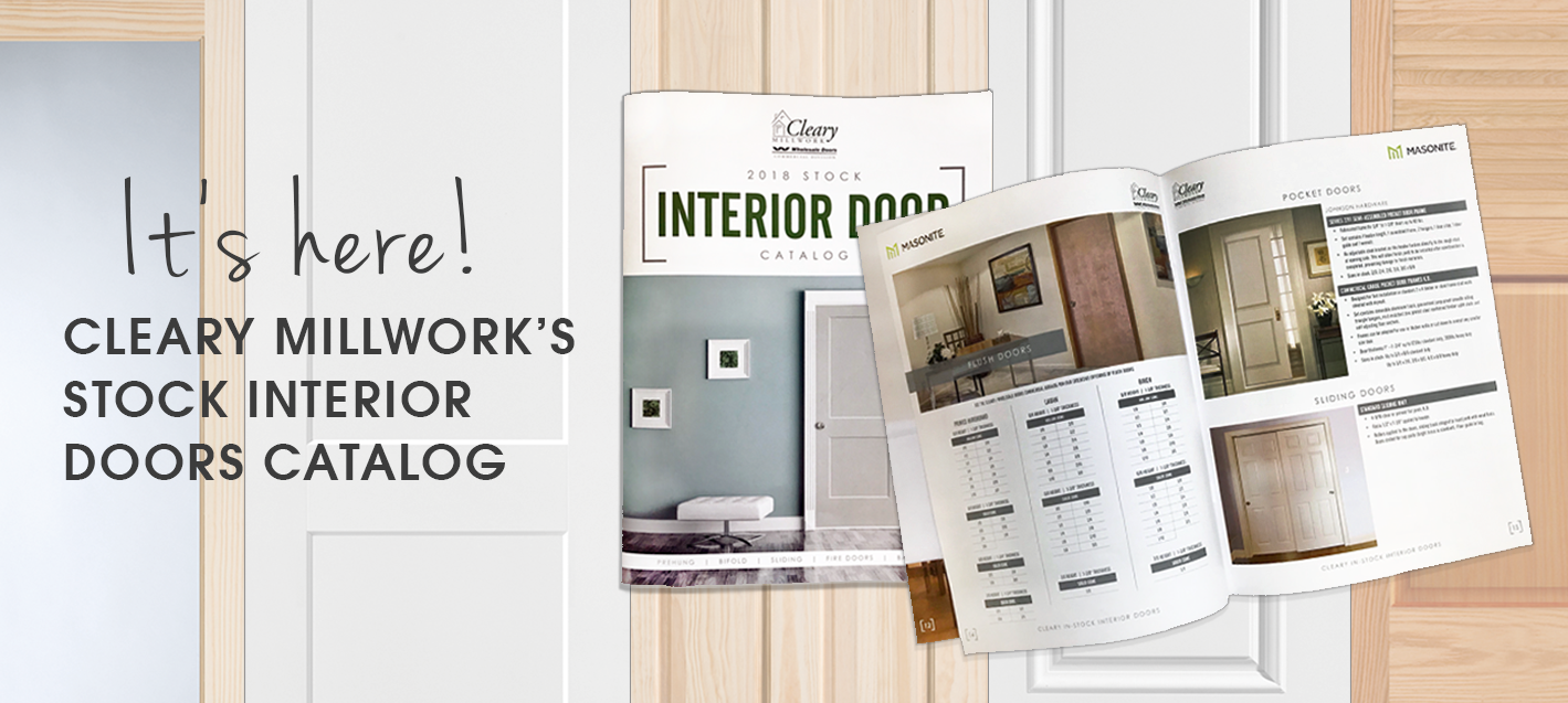 Banner for Cleary Millwork's Stock Interior Door catalog blog post