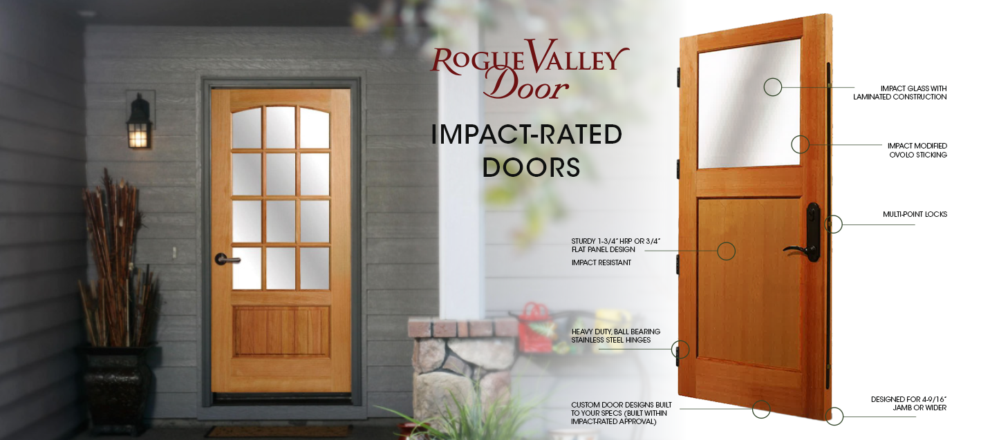 Banner for Impact-Rated Doors by Rogue Valley Doors