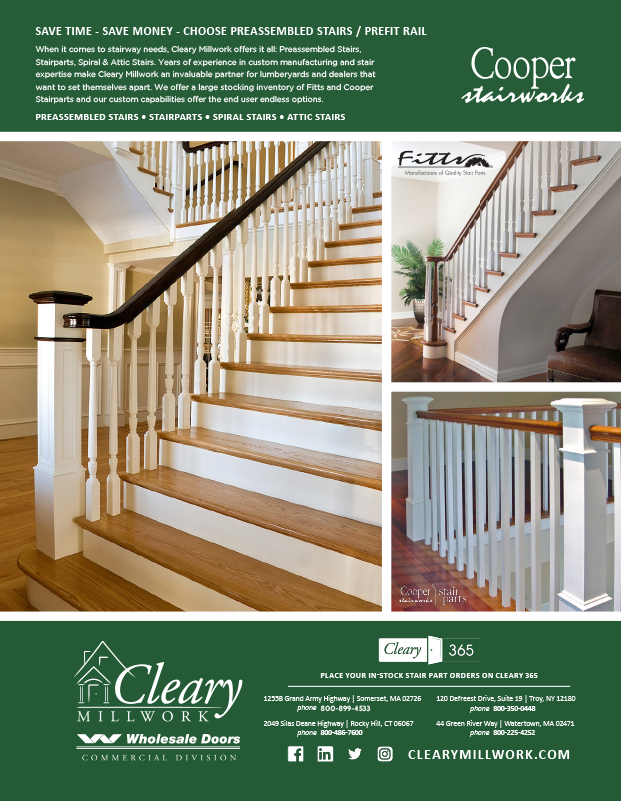Cleary Lumber Co-Operator Ad Stairs