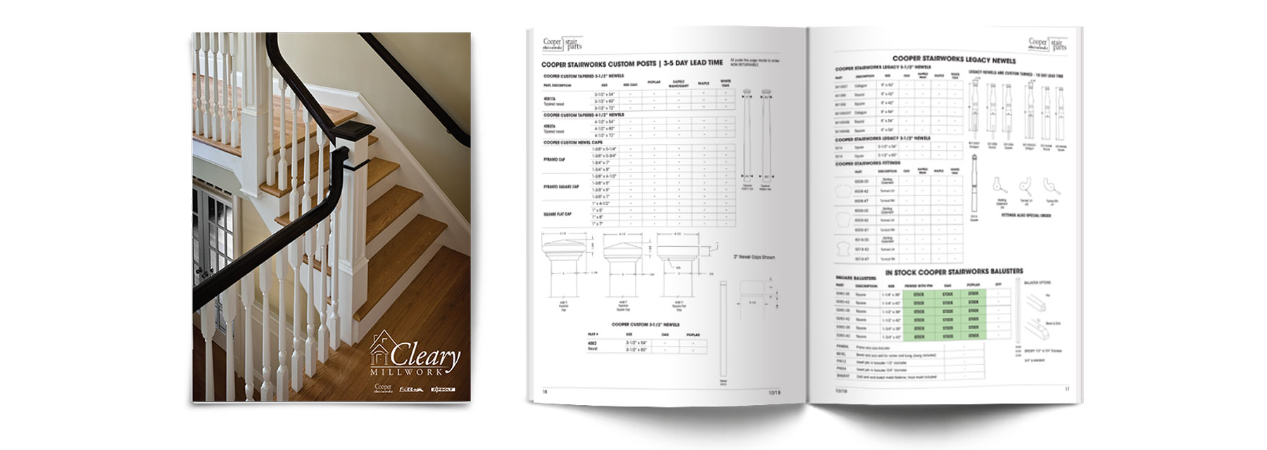 Cleary Millwork Stock Stair Catalog