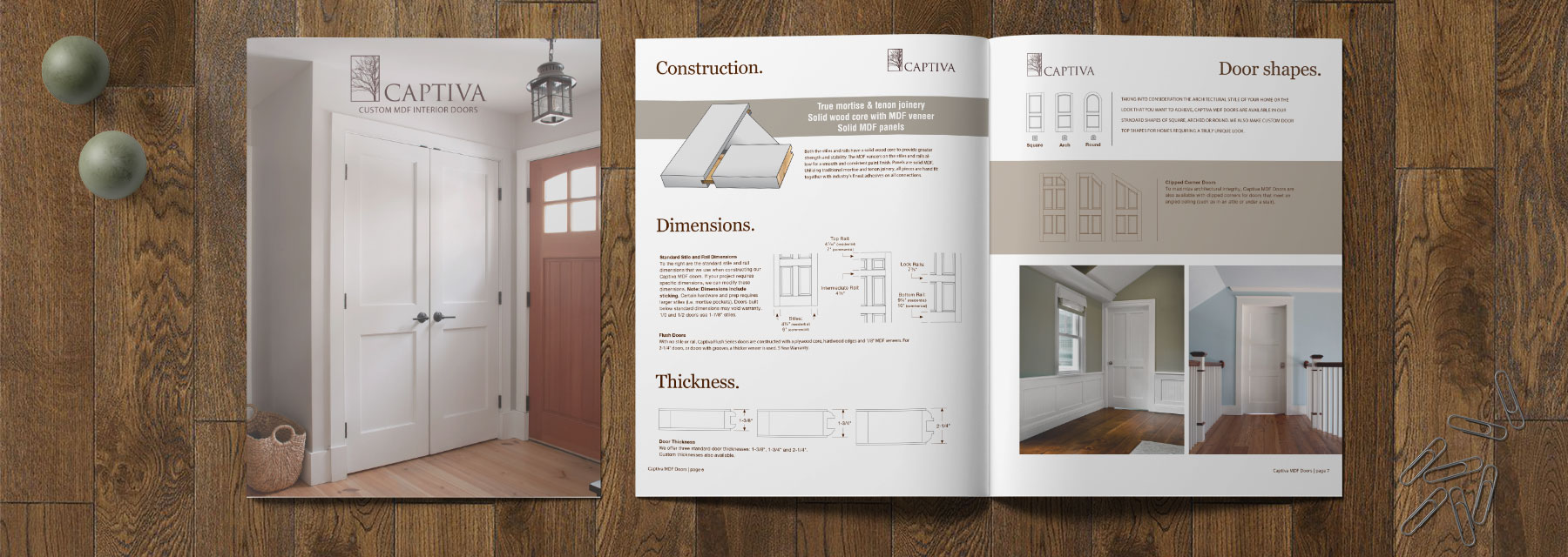 Captiva Custom MDF Door Brochure