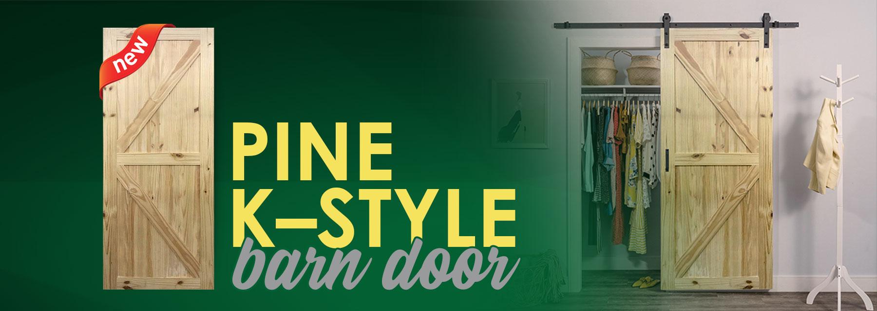 Pine K-Style Barn Door